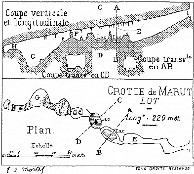 Grotte de la Marut (Théminettes - 46) : N 44°42,784  E 01°50,536